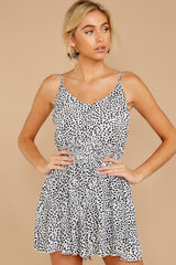 5 Pretty Polished White Cheetah Print Romper at reddressboutique.com