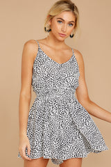 6 Pretty Polished White Cheetah Print Romper at reddressboutique.com