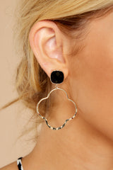 For The Love Black Earrings