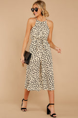 1 Shop Sassy Cream Print Midi Jumpsuit at reddress.com