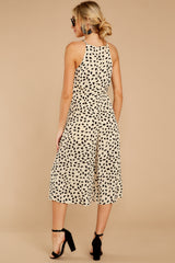 8 Shop Sassy Cream Print Midi Jumpsuit at reddressboutique.com
