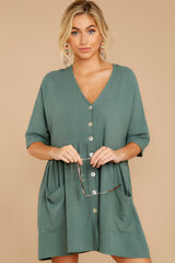 6 Artist Mode Jade Green Dress at reddressboutique.com