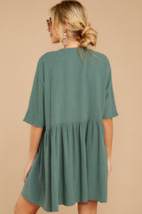 8 Artist Mode Jade Green Dress at reddressboutique.com