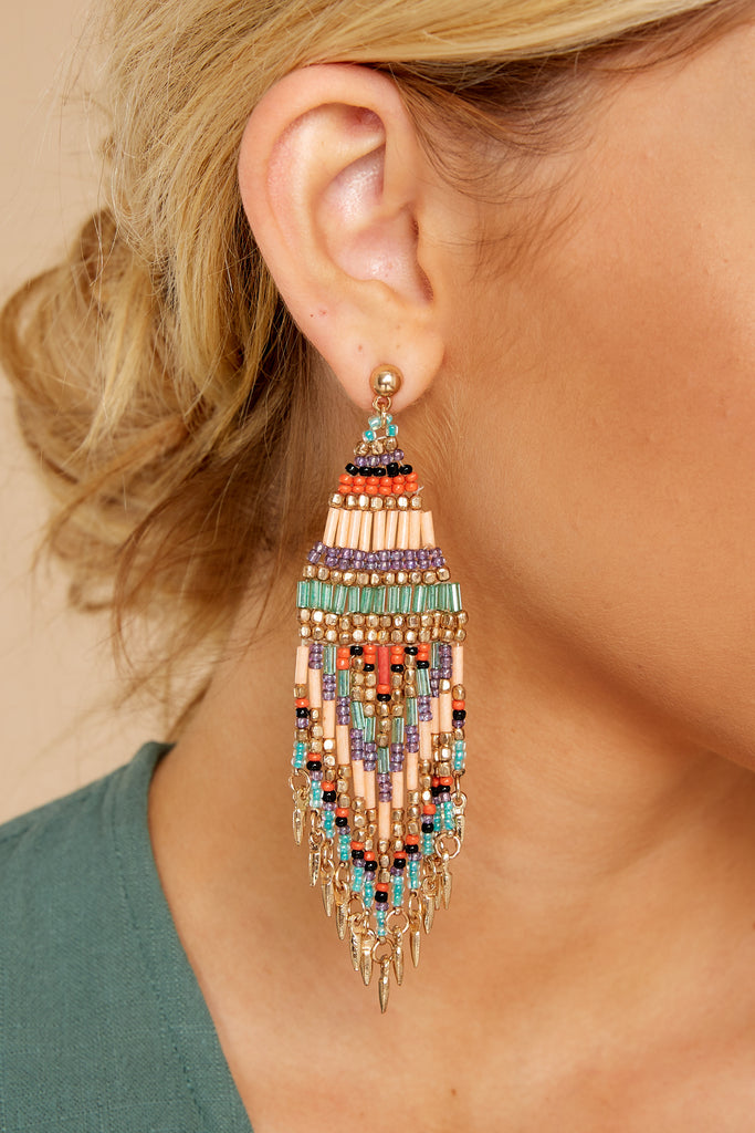 Fan Favorite Blue Multi Statement Earrings