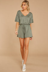 2 Find My Love Sage Green Romper at reddressboutique.com