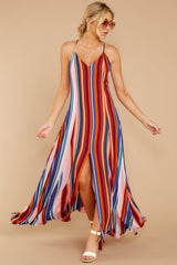 1 Waking Up There Pink Multi Stripe Maxi Dress at reddressboutique.com