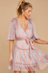 5 Lovely As She Rose Pink Floral Print Dress at reddressboutique.com
