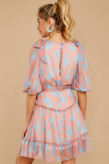 8 Lovely As She Rose Pink Floral Print Dress at reddressboutique.com