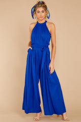 3 Impressive Poise Royal Blue Jumpsuit at reddressboutique.com