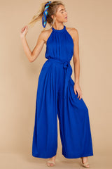 2 Impressive Poise Royal Blue Jumpsuit at reddressboutique.com