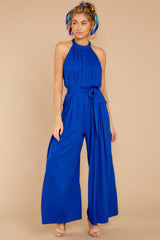 5 Impressive Poise Royal Blue Jumpsuit at reddressboutique.com