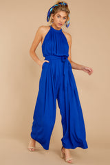 6 Impressive Poise Royal Blue Jumpsuit at reddressboutique.com