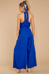 7 Impressive Poise Royal Blue Jumpsuit at reddressboutique.com