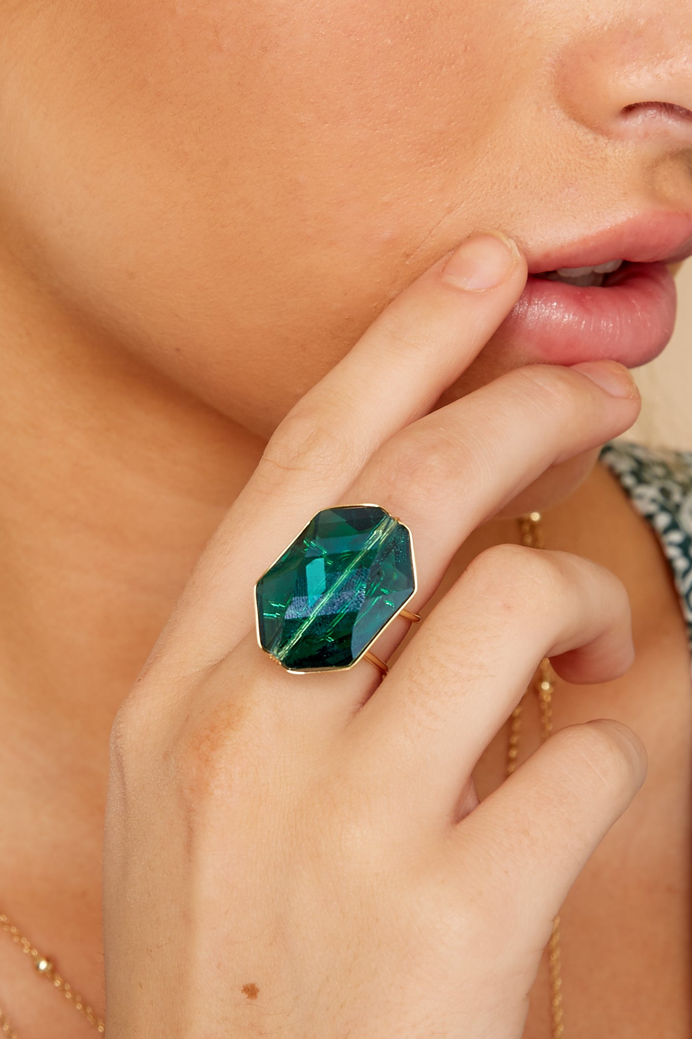 1 Flawless Victory Emerald Ring at reddressboutique.com