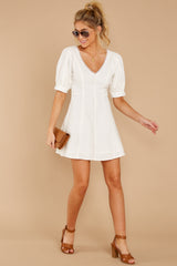 1 Stay Or Go White Dress at reddressboutique.com