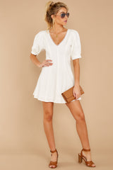 3 Stay Or Go White Dress at reddressboutique.com