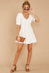 4 Stay Or Go White Dress at reddressboutique.com