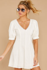 5 Stay Or Go White Dress at reddressboutique.com