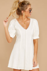 6 Stay Or Go White Dress at reddressboutique.com