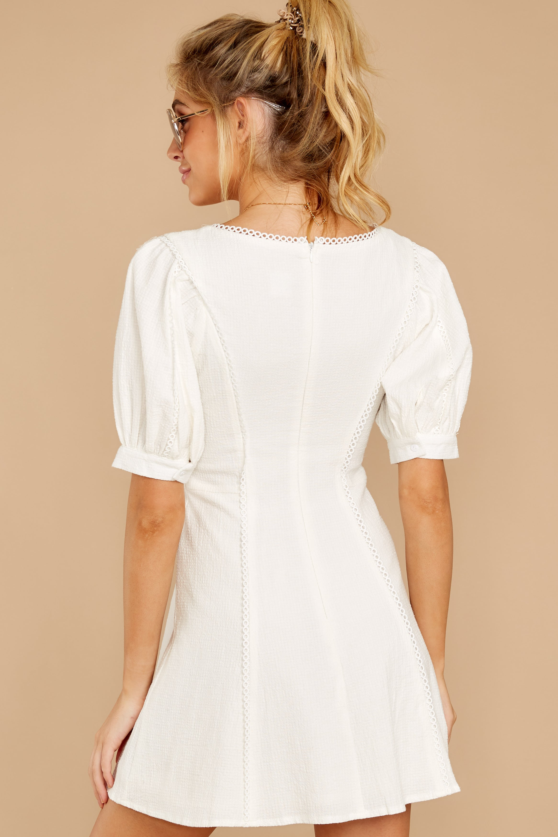 8 Stay Or Go White Dress at reddressboutique.com