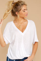5 Wrap My Heart White Twist Top at reddress.com