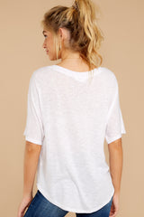 7 Wrap My Heart White Twist Top at reddress.com