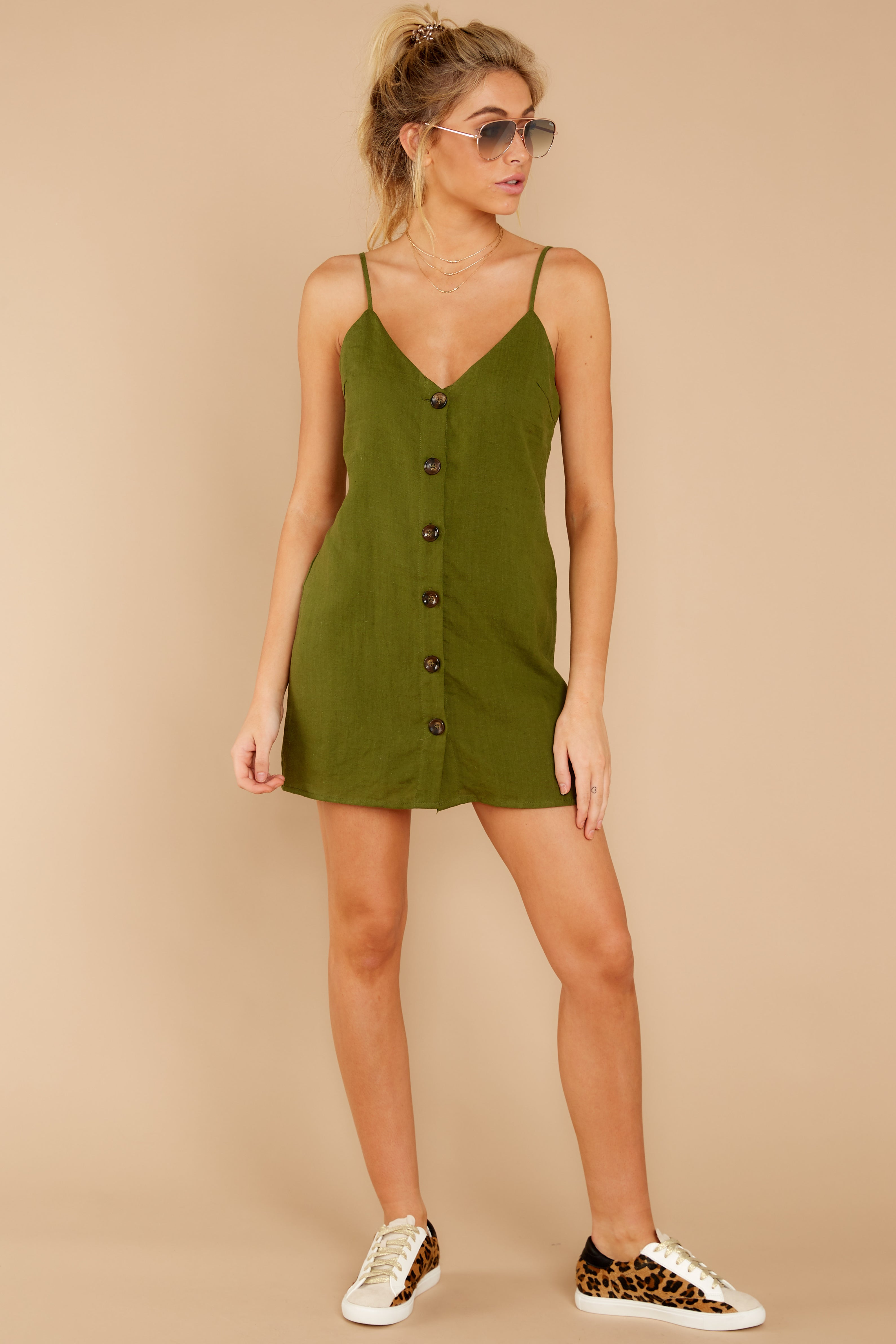 1 Never Wait Rosin Green Dress at reddressboutique.com