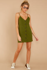 2 Never Wait Rosin Green Dress at reddressboutique.com