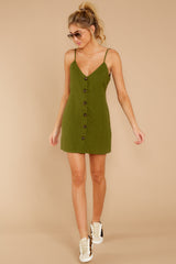 4 Never Wait Rosin Green Dress at reddressboutique.com