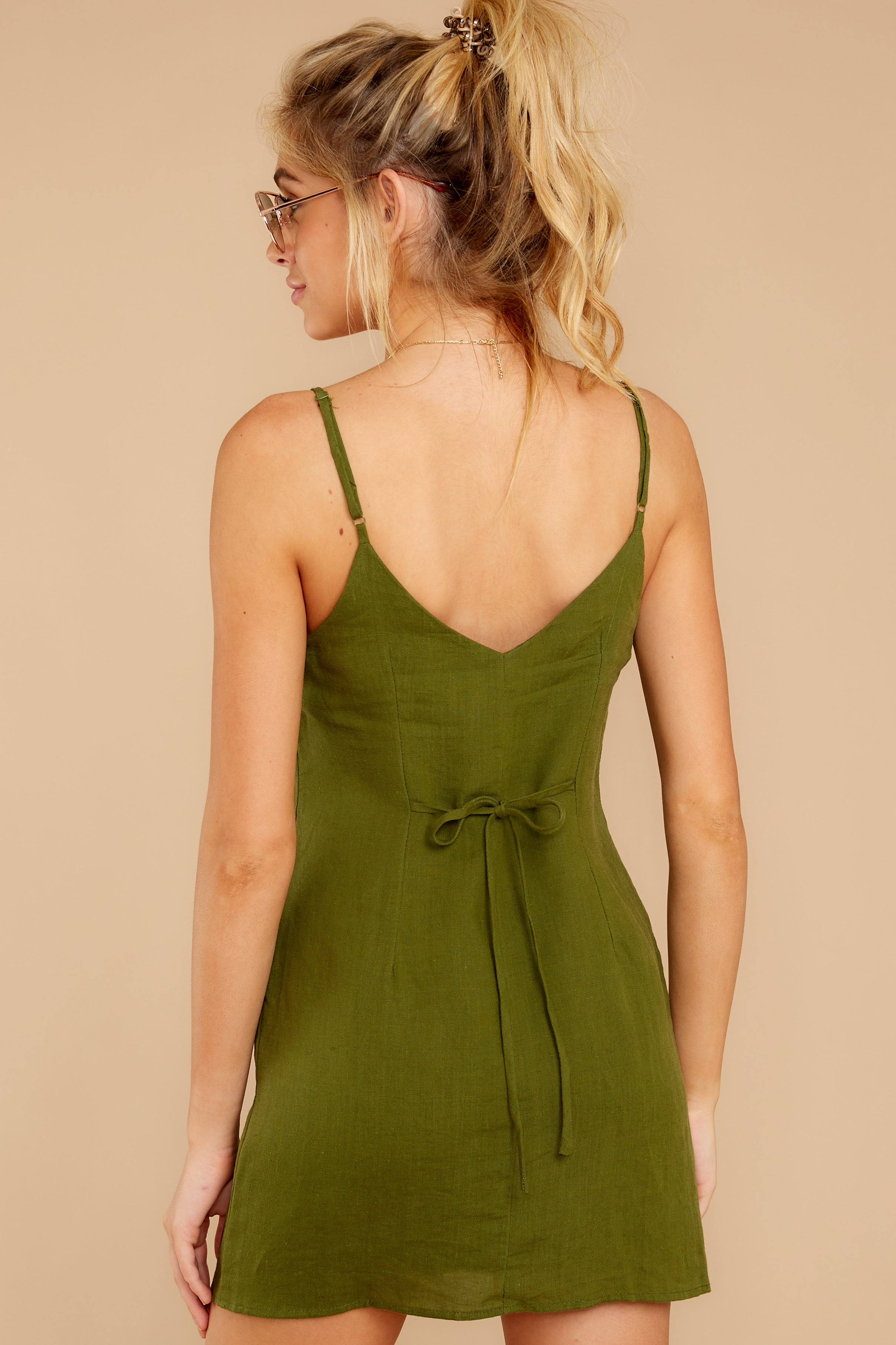 8 Never Wait Rosin Green Dress at reddressboutique.com