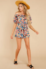 4 Nothing Delicate Black Floral Print Romper at reddress.com