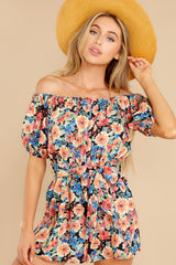 3 Nothing Delicate Black Floral Print Romper at reddress.com