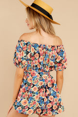 7 Nothing Delicate Black Floral Print Romper at reddress.com