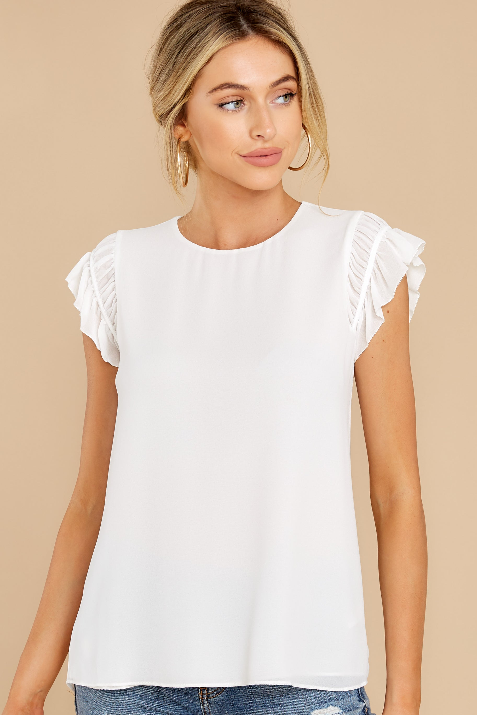 9 Sweetest Encounter White Top at reddress.com