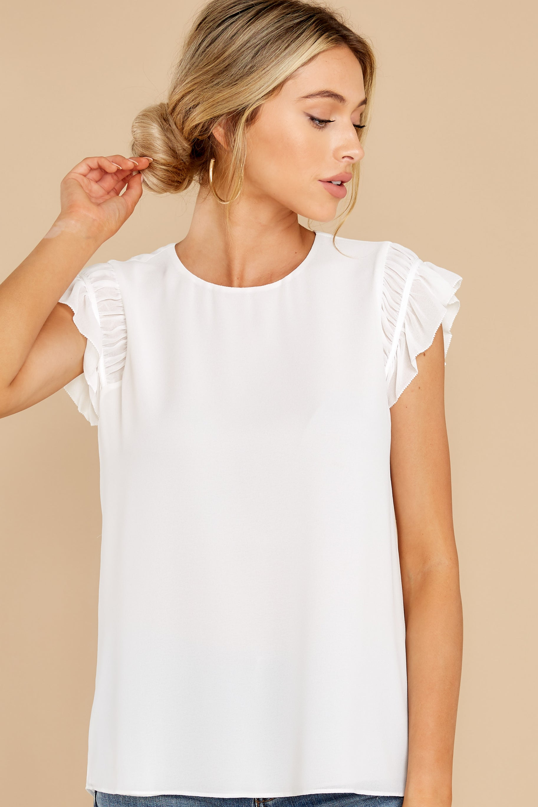 10 Sweetest Encounter White Top at reddress.com