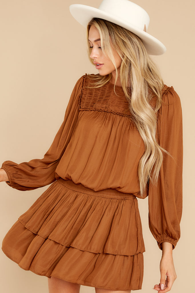 1 Autumn Harvest Rust Multi Dress at reddress.com