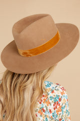 1 Benson Brown Tri Hat at reddress.com