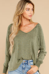 6 Procaffeinating Kind Olive Top at reddress.com