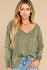 7 Procaffeinating Kind Olive Top at reddress.com