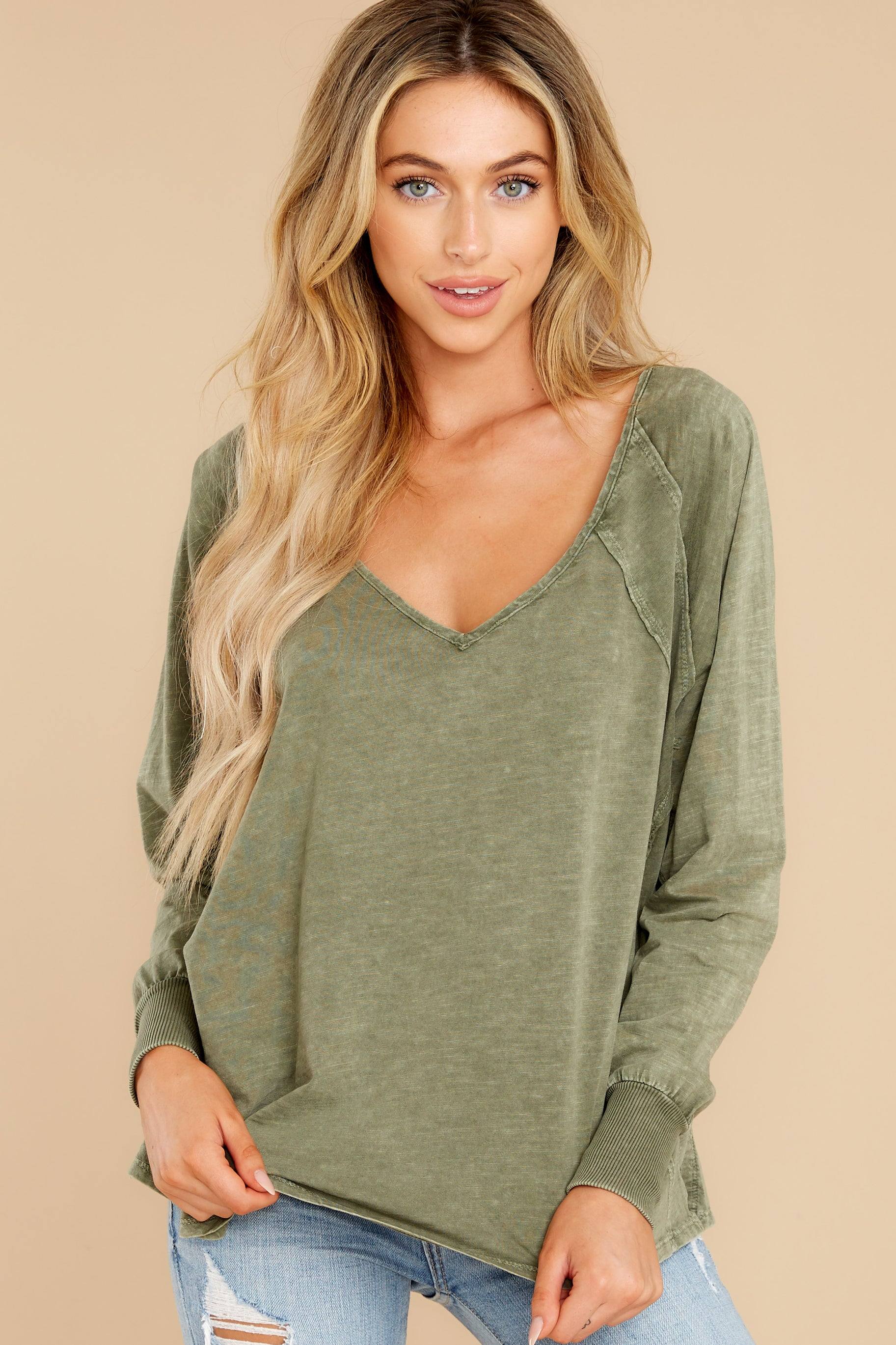 5 Procaffeinating Kind Olive Top at reddress.com