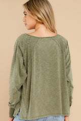 8 Procaffeinating Kind Olive Top at reddress.com