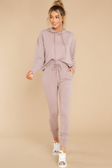 6 Cloud Chaser Dusty Mauve Joggers at reddress.com