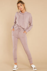 5 Cloud Chaser Dusty Mauve Joggers at reddress.com
