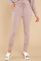 2 Cloud Chaser Dusty Mauve Joggers at reddress.com