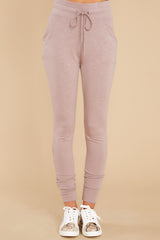3 Cloud Chaser Dusty Mauve Joggers at reddress.com