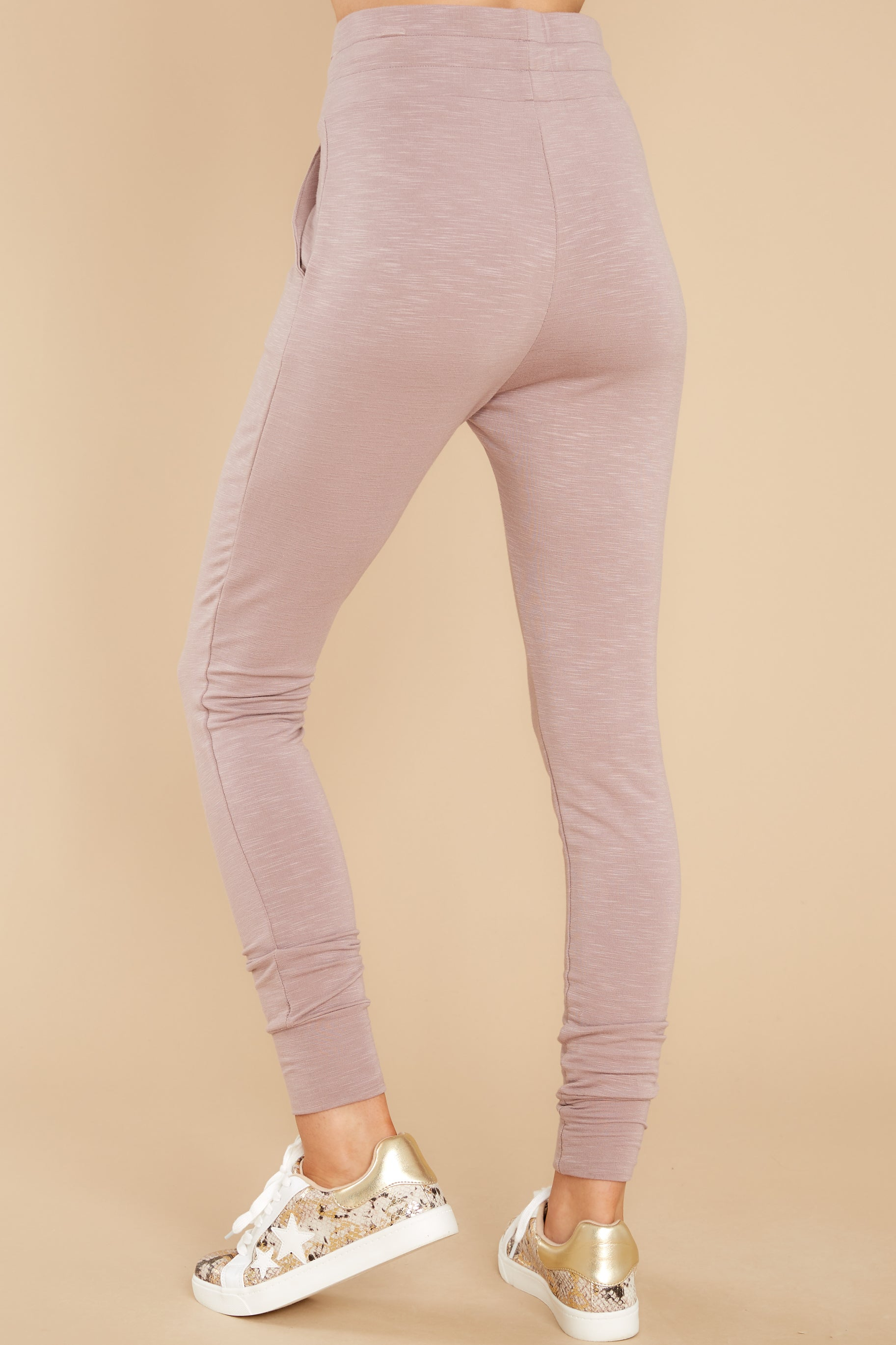 4 Cloud Chaser Dusty Mauve Joggers at reddress.com