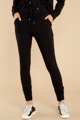 2 Cloud Chaser Black Joggers at reddress.com