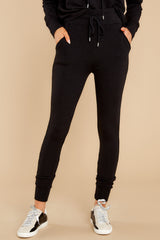 1 Cloud Chaser Black Joggers at reddress.com