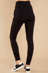 4 Cloud Chaser Black Joggers at reddress.com