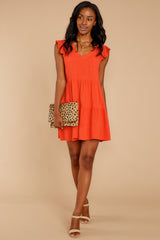1 Touch Of Sweet Tomato Orange Dress at reddressboutique.com